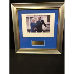 THE DIAMOND WEDDING ANNIVERSARY OF HM THE QUEEN & HRH THE DUKE OF EDINBURGH 2007 (FRAMED PHOTO)