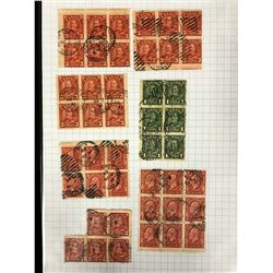 CANADIAN STAMPS LOT (ONE & THREE CENT STAMPS)