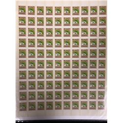 CANADIAN TEN CENT STAMP LOT (UNCUT SHEET)