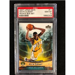 2007 UPPER DECK #11 KEVIN DURANT ROOKIE BOX SET(GEM MT 10) PSA GRADED