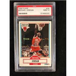 1990 FLEER #26 MICHAEL JORDAN (MINT 9) PSA