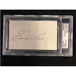 INDEX CARD GORDIE HOWE AUTHENTIC AUTO (PSA/DNA CERTIFIED)