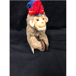 VINTAGE TIN WIND-UP MONKEY W/ CYMBALS