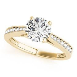 0.7 CTW Certified VS/SI Diamond Solitaire Ring 18K Yellow Gold - REF-114H9A - 27626