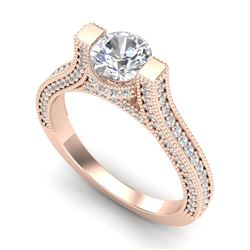 2 CTW VS/SI Diamond Micro Pave Ring 18K Rose Gold - REF-290N9Y - 36948
