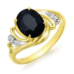 2.53 CTW Blue Sapphire & Diamond Ring 10K Yellow Gold - REF-22T8M - 12672