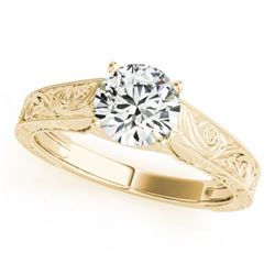 0.75 CTW Certified VS/SI Diamond Solitaire Ring 18K Yellow Gold - REF-180X5T - 27809