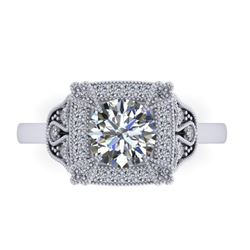 1.75 CTW Solitaire Certified VS/SI Diamond Ring 14K White Gold - REF-496H4A - 38553