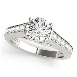 1.5 CTW Certified VS/SI Diamond Solitaire Ring 18K White Gold - REF-393A3X - 27507