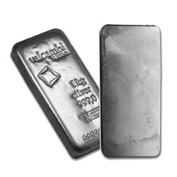 One piece 1 kilo 0.999 Fine Silver Bar Valcambi with Assay-86730
