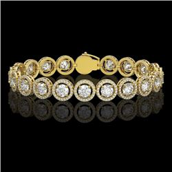 13.42 CTW Diamond Designer Bracelet 18K Yellow Gold - REF-2174F2N - 42583