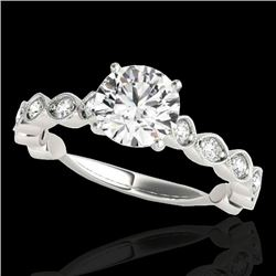 1.5 CTW H-SI/I Certified Diamond Solitaire Ring 10K White Gold - REF-163K6W - 34880