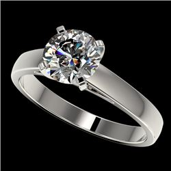 1.55 CTW Certified H-SI/I Quality Diamond Solitaire Engagement Ring 10K White Gold - REF-339Y2K - 36