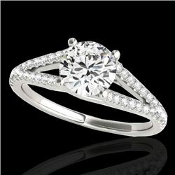 1.25 CTW H-SI/I Certified Diamond Solitaire Ring 10K White Gold - REF-200T2M - 35305