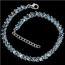 Natural Marquise London Blue Topaz Bracelet