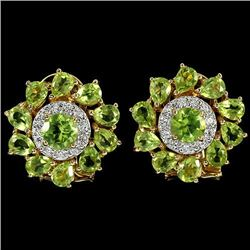 NATURAL APPLE GREEN PERIDOT Earrings