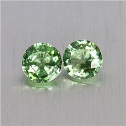 Natural Green Sapphire Pair 1.20 Cts