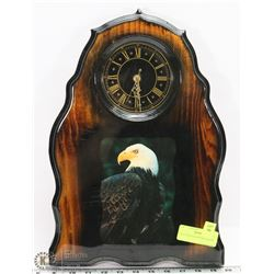 EAGLE WOOD LACQUERED CLOCK