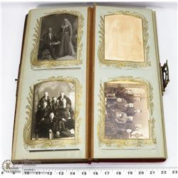 ANTIQUE VICTORIAN PHOTO ALBUM FULL OF OLD PHOTOS