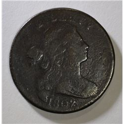 1802 DRAPED BUST LARGE CENT FINE