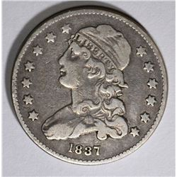 1837 CAPPED BUST QUARTER, VF