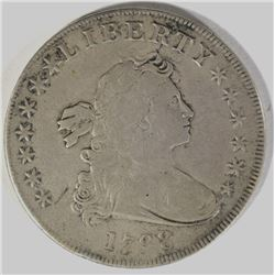 1798 DRAPPED BUST DOLLAR VF/XF NICE COIN!