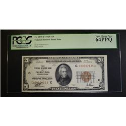 1929 $20 FEDERAL RESERVE BANK NOTE