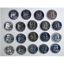 19-MIXED DATE PROOF FRANKLIN HALF DOLLARS