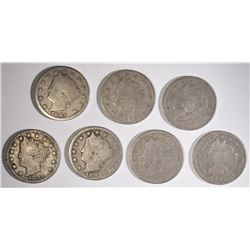 BETTER DATE LIBERTY NICKELS: