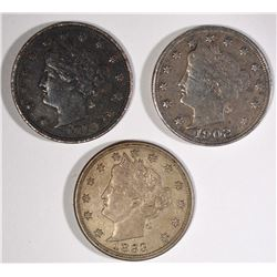 LOT OF LIBERTY NICKELS: