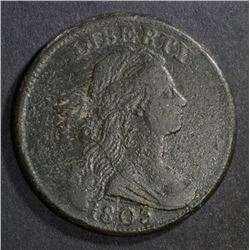 1803 DRAPED BUST LARGE CENT  VF-XF