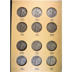 1937-47 WALKING LIBERTY HALF SET COMPLETE;