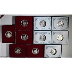 5-UNC & 5 PF 1982 WASHINGTON COMMEM HALVES