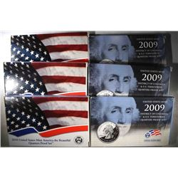 3-2009 & 3-2010 U.S. QUARTER PROOF SETS/ORIGINAL
