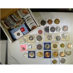 LARGE LOT OF TOKENS, MEDALS ETC, LOOK AT PICTURES