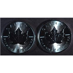 2-BU 2016 CANADA 1oz MAPLE LEAF COINS