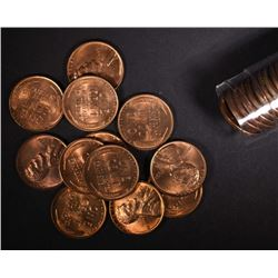 MIXED BU ROLL OF 1951 & 1951-D LINCOLN CENTS