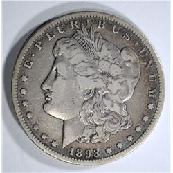 1893-CC MORGAN DOLLAR  VF