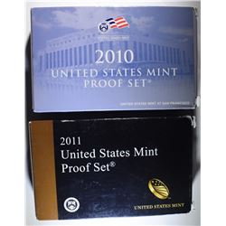 2010 & 2011 Proof Sets