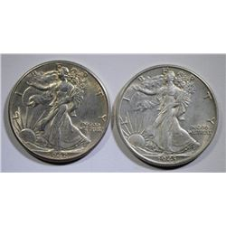 1942 & 1943 WALKING LIBERTY HALF DOLLARS