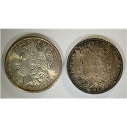1883-O & 1881-S MORGAN DOLLARS CHBU