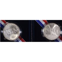(2) 2007 Little Rock  Unc. Silver Dollar