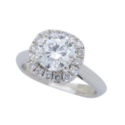 18KT White Gold 1.25ctw GIA Cert Diamond Ring