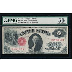 1917 $1 Legal Tender Note PMG 50