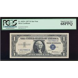 1957 $1 Silver Certificate Star Note PCGS 68PPQ
