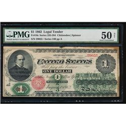 1862 $1 Legal Tender Note PMG 50NET