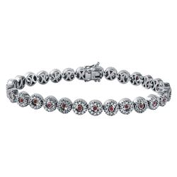 18KT White Gold Ruby and Diamond Bracelet