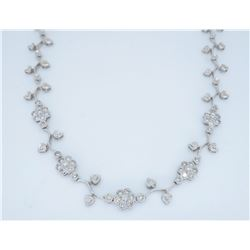 14KT White Gold 1.35ctw Diamond Necklace