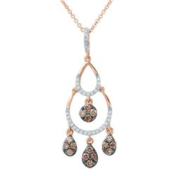 14KT Rose Gold 0.42ctw Diamond Pendant with Chain