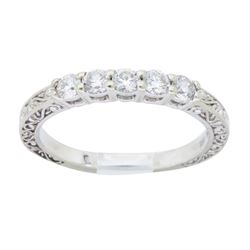 18KT White Gold 0.25ctw Wedding Band